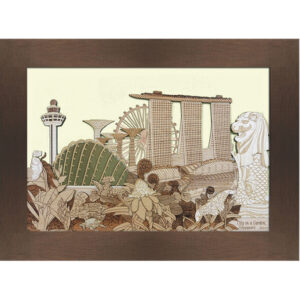 City In A Garden (Ivory) Frame-03